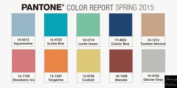 Colors Pantone 2015 2015 Wedding Color Report